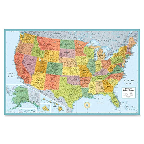 Rand Mcnally USA Wall MAP (RAN528959999)