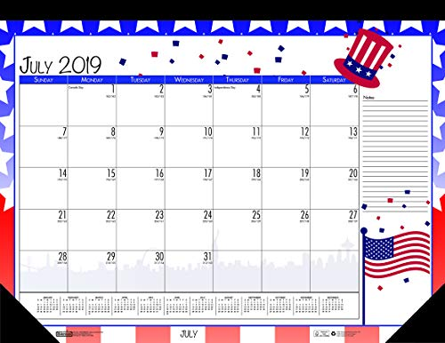 House of Doolittle 2019-2020 Monthly Seasonal Desk Pad Calendar, Academic, 22 x 17 Inches, July - June -