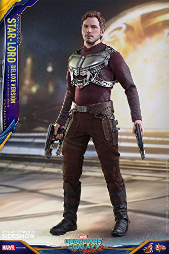 Hot Toys Star-Lord (Deluxe Version) 1/6 Scale Collectible Marvel Guardians of the Galaxy Volume 2 Movie Figure