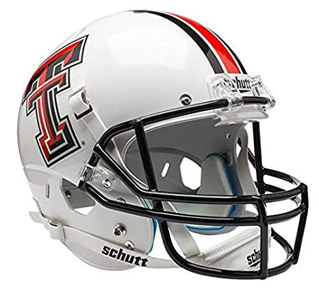 Schutt NCAA Texas Tech Red Raiders Replica XP Football Helmet, White Alt. 1