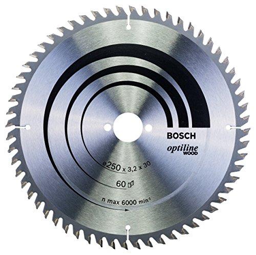 Bosch Zubehör 2608640665 Kreissägeblatt Optiline Wood 250 x 30 x 3,2 mm, 60
