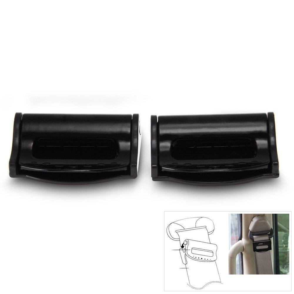 CARCHET® Paio Clip Stopper Ferma Cintura di Sicurezza in Plastica per Auto Universale Ebuydemart