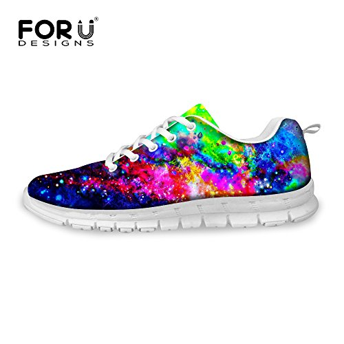 FOR U DESIGNS Fashion Galaxy Print Mens & Womens Breathable Light Weight Lace Up Sneakers Running Shoes Galaxy 6 A2on1dwnHa