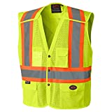 Pioneer V1021960-XL High Visibility Safety Vest with Snaps, Green, X-Large