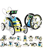 UUSTAR Stem Toys for 8-10 Year Old Boys and Girls, 13-in-1 Education Solar Robot Toys Solar Powered by The Sun|DIY Building Science Experiment Kit for Kids, Gifts for 8-12 Year Old Boys and Girls