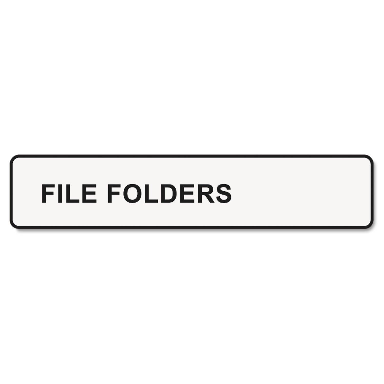 DYMO 30327-1-Up File Folder Labels, 9/16 x 3-7/16, White, 260/Box-DYM30327