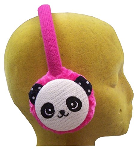 Heart Ice Pink - N'Ice Caps Girls Winter Earmuffs (Pink Panda)