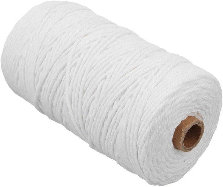Cordón de macramé de 3 mm x 200 m, hilo de algodón natural, cuerda ...