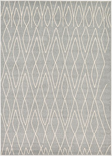 Cheap A2Z Rug Modern Abstract Gray 9′ x 12′ Monaco Collection Area rug – rugs for living room – rugs for dining room & bedroom – Floor Carpet