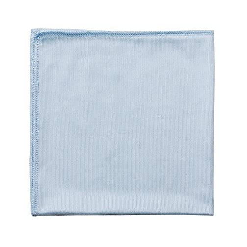 Real Clean 16x16 Blue Microfiber Window Glass Cleaning Towels (Pack of 12) |