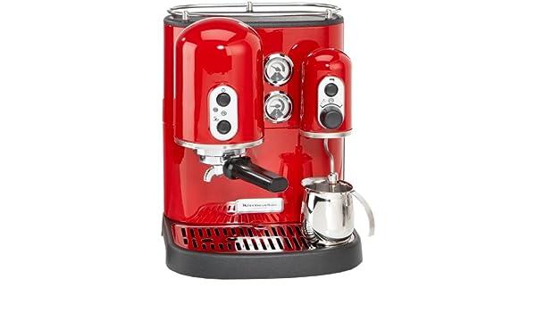 KitchenAid Artisan KES 100 - Cafetera de espresso, color rojo ...