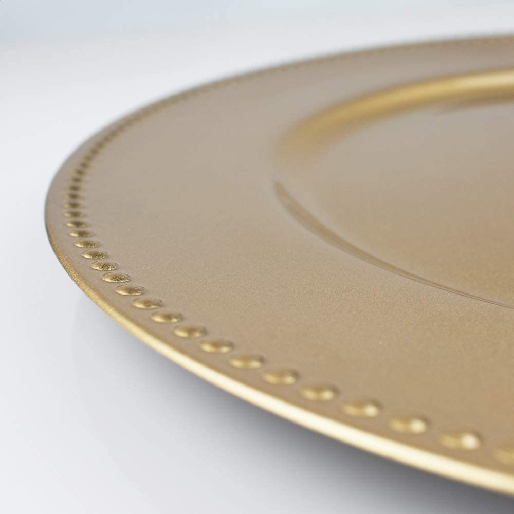 13 Inch PaperLanternStore.com Gold Heavy Duty Charger Plate Smooth Finish