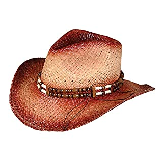 Rhode Island Novelty Rolled Up Cowboy Hat with Beaded Band, One per Order