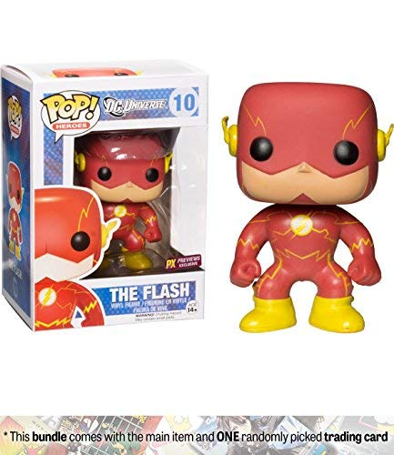 - Funko The Flash [New 52] (PX Exclusive) POP! Heroes x DC Universe Vinyl Figure + 1 Official DC Trading Card Bundle [#010]