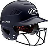 Rawlings Coolflo NOCSAE Molded Batting Helmet with Face Guard, Navy, One Size