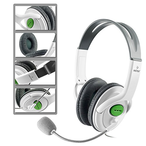 insten headset headphone with mic compatible with xbox 360 wireless controlle. Black Bedroom Furniture Sets. Home Design Ideas