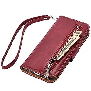 Amazon.com: iPhone 7 Plus wallet Case, WOOZU Hidden