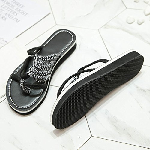 JITIAN Mode Légère Tongs Noir Flip Plage Flop Slip Chaussures Femmes Lanières on Casual Tongs Plateforme wT1FCxqwSB