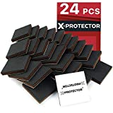 X-PROTECTOR Furniture Grippers - Premium 24 pcs 2' Furniture Pads - Floor Protectors for Furniture Legs. Best Non Slip Pad Rubber Feet - Stop Your Furniture with Anti Slip Floor Pads!