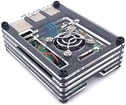 Digitalkey Estuche para Raspberry Pi 4 Acrílico con Ventilador de ...