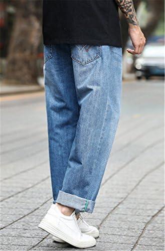(グードコ) 春 秋 メンズ ジーンズ ワイド ストレート ロングパンツ デニム ワークパンツ ズボン ゆったり 無地