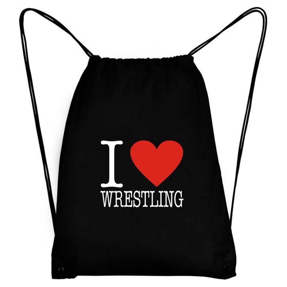 Teeburon I LOVE Wrestling CLASSIC Sport Bag by Teeburon