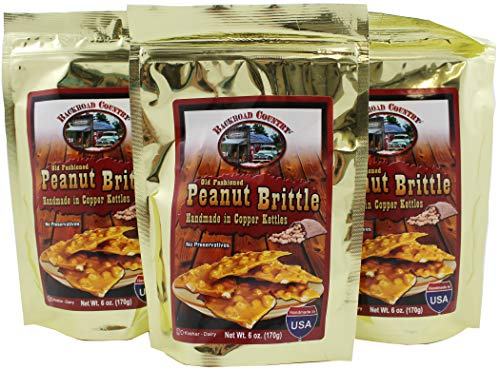 - Backroad Country Gourmet Peanut Brittle Candy, 6 Ounce Bags (Pack of 3)