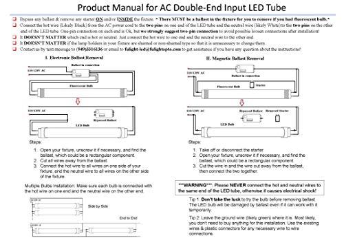 Fulight Easy-Installing ¤ F8T5/CW LED Tube Light - 12