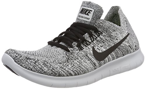 Stealth Wmns RN Free 2017 Pure Black Nike Mujer Zapatillas Running de White para 101 Trail Multicolor Platinum Flyknit Edw6nAq