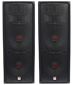 "(2) Rockville RSG12.28 Dual 12"" 2000 Watt 8-Ohm Passive Pro Audio PA Speakers from Rockville"