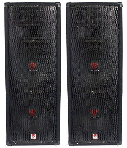 "(2) Rockville RSG12.28 Dual 12"" 2000 Watt 8-Ohm Passive Pro Audio PA Speakers by Rockville"