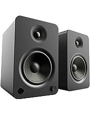 "Kanto YU6 Powered Bookshelf Speakers with Bluetooth® and Phono Preamp, 5.25"" Kevlar Driver, 200W Peak Power, Matte Black"