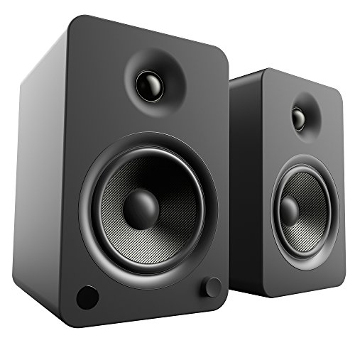 (Kanto YU6 Powered Speakers with Bluetooth and Phono Preamp, Matte Black)