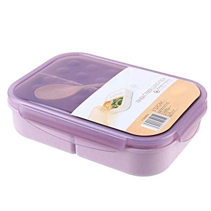 Wheat Straw Meal Prep Containers Lunch Box Food Storage with Leakproof Lids