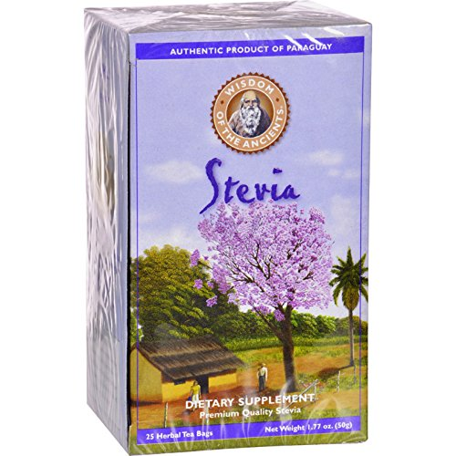 Ancients Stevia (Wisdom Natural Stevia Herbal Supplement - 25 Tea Bags)