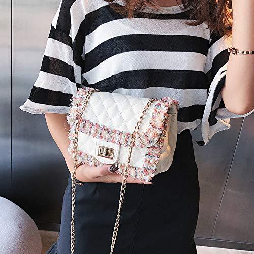 Bag da a Borse tracolla tela donne Donna Borse catena White zaino vintage Borsa a Borsa tracolla pelle Messenger elegante Borsa JUNMAONO per Borse borsetta Borsa spiaggia PU wpOqvI