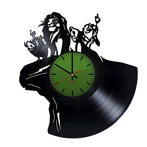 Pictures of Lions Handmade Vinyl Record Wall Clock - Get unique nursery wall decor - Gift ideas for kids and teens – Cartoon Characters Unique Modern (Handmade Lion Mask)