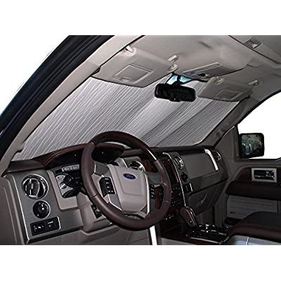 HeatShield, The Original Windshield Sun Shade, Custom-Fit for Ford F-150 Truck 2009, 2010, 2011, 2012, 2013, 2014, Silver Series: Automotive
