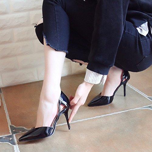 Minces Printemps Femmes Vide Au Talons ZHUDJ Chaussures Unique Creux black Chaussures Pointu Talons Chaussures Chaussures Des Hauts PRYwOW5qO