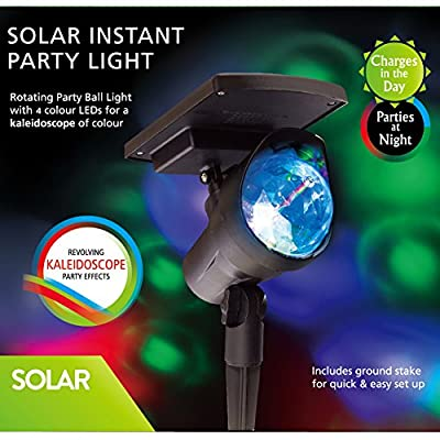 Solar Powered Spotlight with 4 LEDs Sunwind Adjustable Landscape Lighting for Party, Christmas Outdoor Garden and Holiday Decoration.
