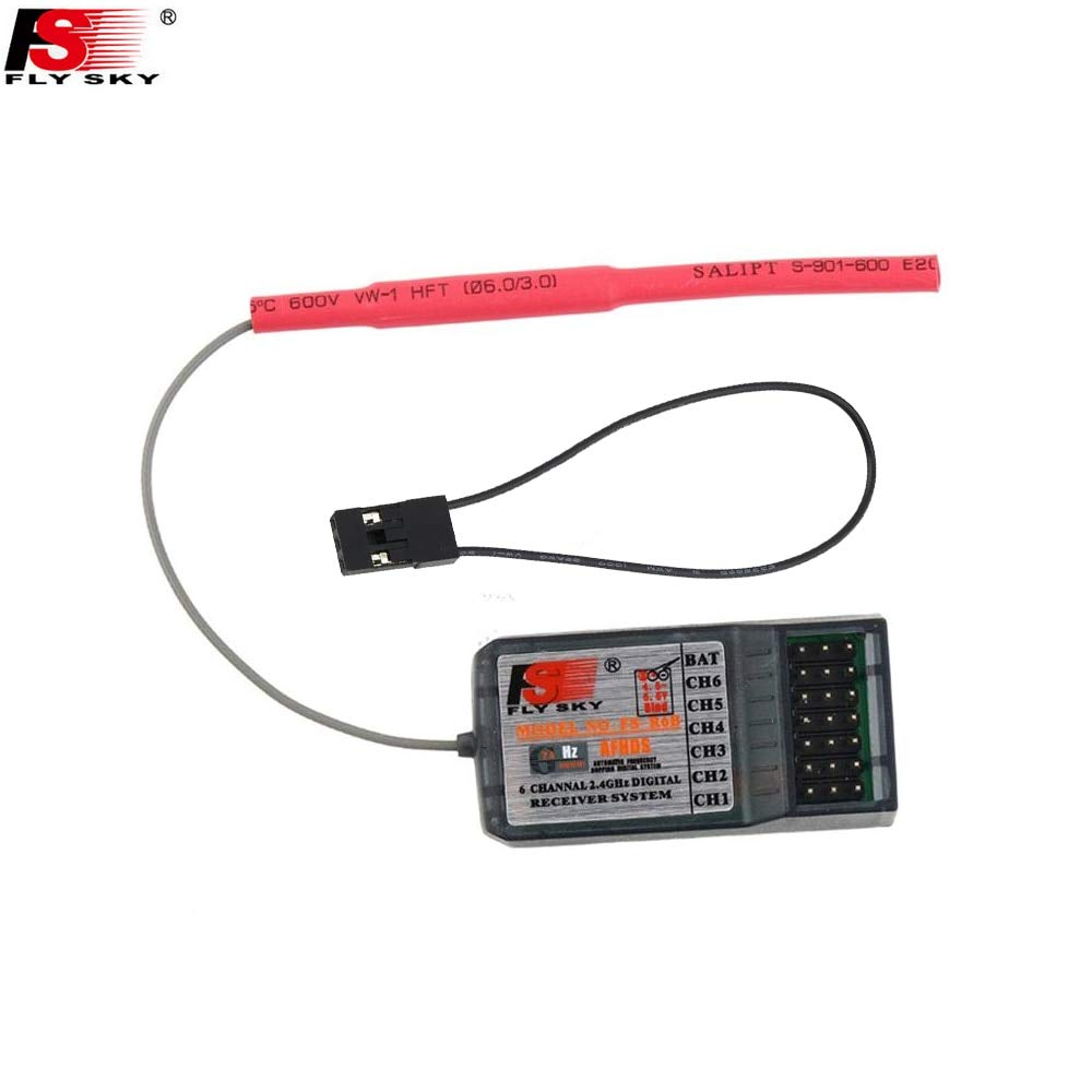 1pcs Flysky FSR6B 2.4Ghz 6CH RC AFHDS Receiver for i6 i10 T6 CT6B TH9x Transmitter Remote Control Parts