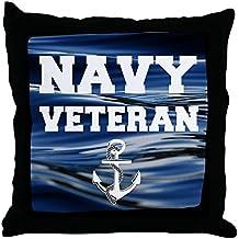 "CafePress - Navy Veteran - Decor Throw Pillow (18""x18"")"