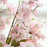Paymenow Artificial Fake Clearance Cherry Blossom Silk Flower Bridal Hydrangea for Crafts Office Wedding Home Garden Decor (Pink)