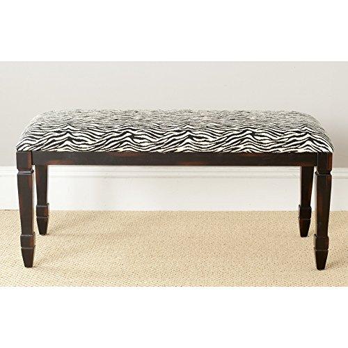 Animal Collection Zebra Rug (Safavieh American Home Collection Tasvo Brown Zebra Upholstered Bench)