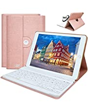 COO Funda con Teclado iPad 9.7, Funda iPad 9.7 con Teclado Español Bluetooth Desmontable para iPad 2018 (6th Gen)/iPad 2017/iPad Pro 9.7/iPad Air 2/1-Delgado y Ligero-Smart Auto Sleep-Wake