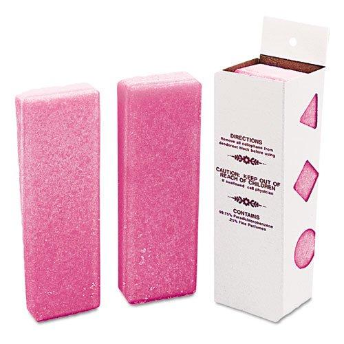 Krystal Deodorizing Para Wall Blocks, 16oz, Pink, Cherry - 12 wall-mountable para block air (Para Wall Blocks)
