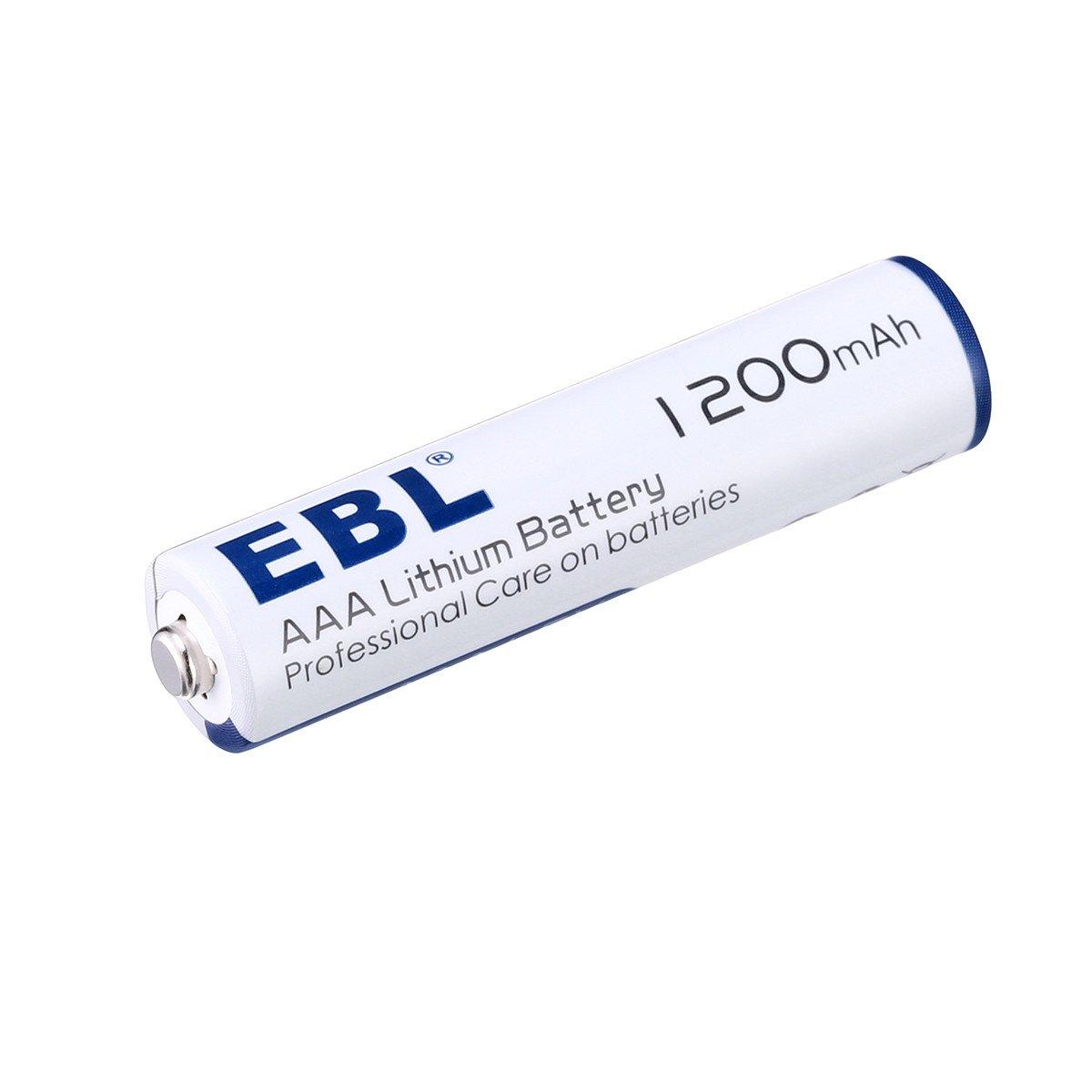 EBL 8pcs 1.5V AAA Batteries Lithium Batteries, New Technology Lighter and Last Longer AAA Lithium Batteries