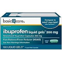 Basic Care Ibuprofen Liquid Gels, 160 Count