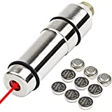 KIARSWE Tactical Training Laser, Laser Bullet 9mm for Dry Firing, Red Dot 9mm Laser Training Cartridge| Laser Bore Sight with Double O-Ring/ 3-Set Batteries (Color: Silver, Tamaño: 9mm)