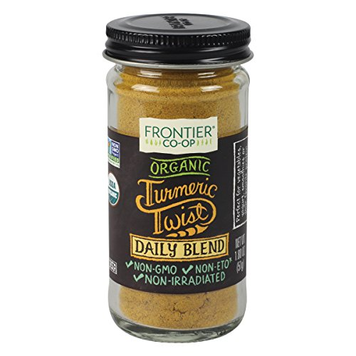 Frontier Organic Turmeric Twist Daily Blend | Turmeric, Ginger, Cloves, Black Pepper | 1.8 oz.